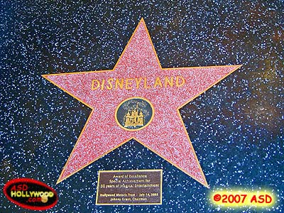 Disneyland Honorary Star